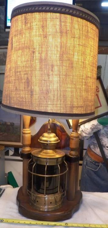 Nautical Table Lamp Vintage Nautical Red Glass Ship Lantern 3 Way