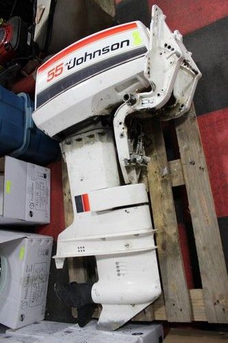 55 hp johnson outboard motor sold as is