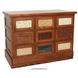 Oak Country Store 9 Drawer Seed Cabinet