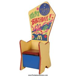 Vintage McDonald's Birthday Chair
