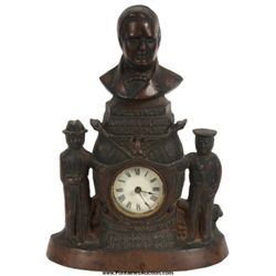William McKinley Cast Iron Front Mantle Clock