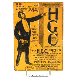 HGC Embossed Tin Sign