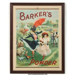 Barker's Powder Advertising Poster