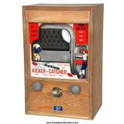 Coin Op Kicker and Catcher Arcade Game