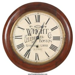 Wright Co. Coffee Advertising Gallery Clock