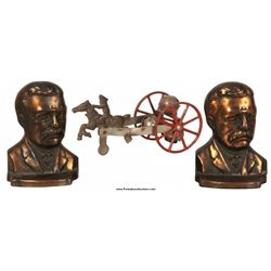 Watrous Bell Toy & Roosevelt Bookends
