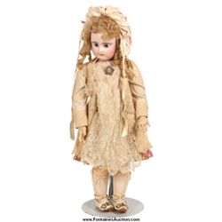 French Bisque Head Bebe Doll