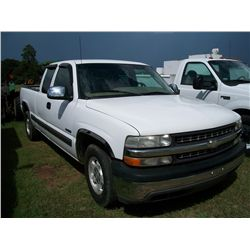 2001 CHEVROLET PICK UP EXTENDED CAB Ser#:2GCEC19T611120150