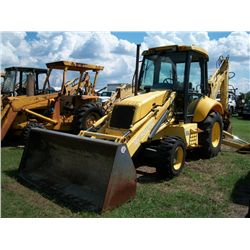 New Holland LB75B LOADER BACKHOE, 4X4, CAB, EXTEND A HOE Ser#:031034485