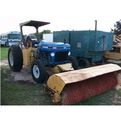 CHALLENGER 7FT HYD BROOM MOUNTED ON FORD 3910 TRACTOR Ser#:C714733