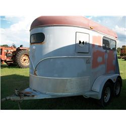 1996 CM 2 HORSE BUMPER PULL TRAILER W/ (BILL OF SALE & TAG RECEIPT) Ser#:49THB1025S1021416