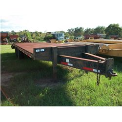 1996 HOMEMADE 8X25 TAG TRAILER W/RAMPS & METAL FLOOR Ser#:AL95HM00000008521