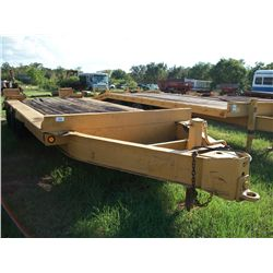 1974 UTLO 8X20 TAG TRAILER W/ 3 AXLES & RAMPS (BILL OF SALE & TAG RECEIPT ONLY) Ser#:T20127
