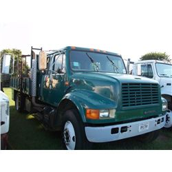 1996 International 4900 CREW CAB FLAT BED TRUCK Ser#:1HTSDAAN5TH266782