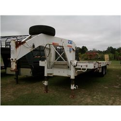 1995 GOOSENECK WHITE 28FT 24,000 GVW TILT EQUIPMENT TRAILER Ser#:16GL68G2XSB031518