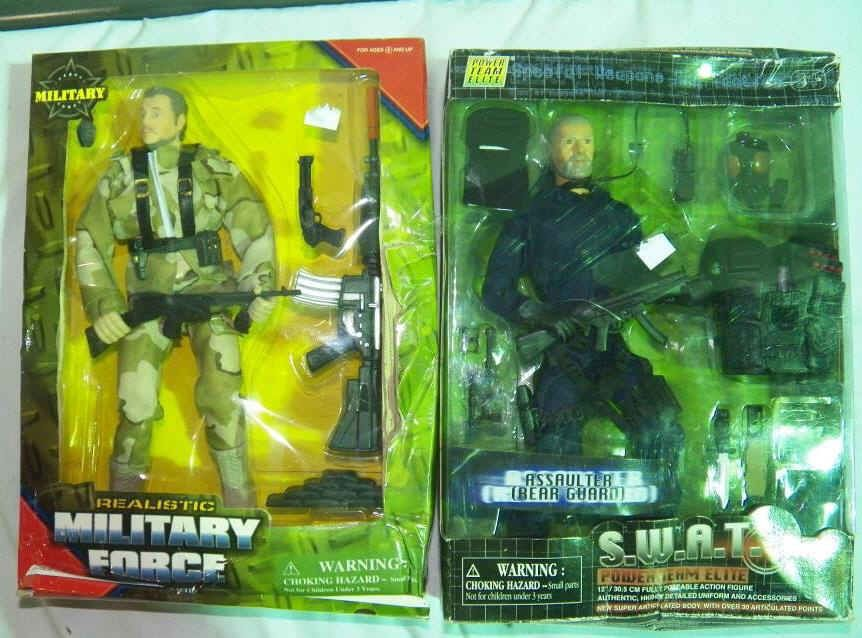 2-Action Figures Realistic Military Force Play Figure & S ...