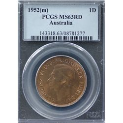 1952(m) Penny PCGS MS63RB