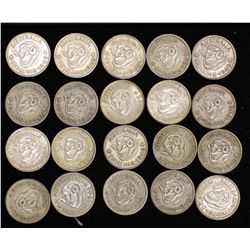 1946 Perth Shillings (20 Coins) fine to VF