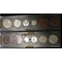 Choice year Sets of Australian coins, 1959,1960,1961,1962,1963