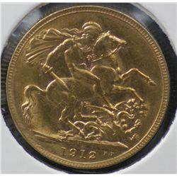 1912 Perth Sovereign Uncirculated