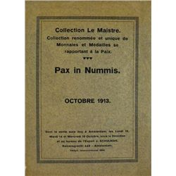 COLLECTION LE MAISTRE, PAX IN NUMMIS 1913