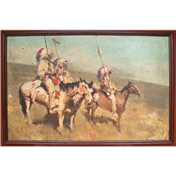 James Reynolds: Native American oil painting