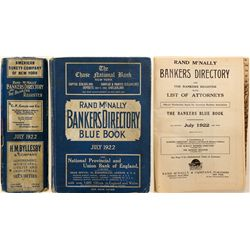 Rand McNally Bankers Directory Blue Book, 1922