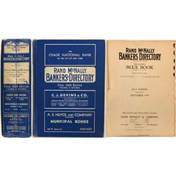 Rand McNally Bankers Directory Blue Book, 1939