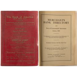 Merchants Bank Directory 1925