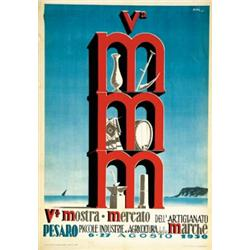 Advertising poster of exhibitions v mostra mercato dell for Mercato pesaro
