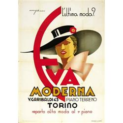 FASHION ADVERTISING POSTER - EVA MODERNA TORINO…