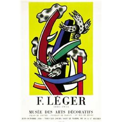 Advertising poster of exhibitions f leger musee des for Poster decoratif