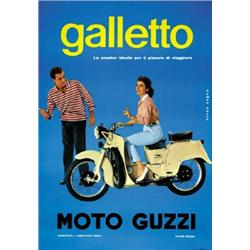 ADVERTISING MOTORCYCLING POSTER - GALLETTO MOTO GUZZI…