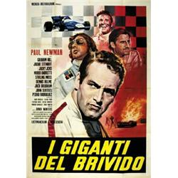 Movie poster with car and motorcycling i giganti del for Poster giganti