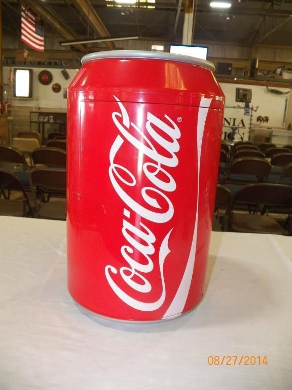 Coca cola cooler heater shaped like the coke can opens for Coke can heater