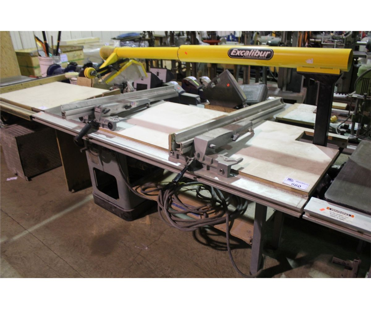 Delta 10 Table Saw With Excalibur Exhaust Guard Able Auctions