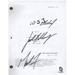 Copy of LOST Pilot Script Signed by Matthew Fox, Evangeline Lilly and Josh Holloway