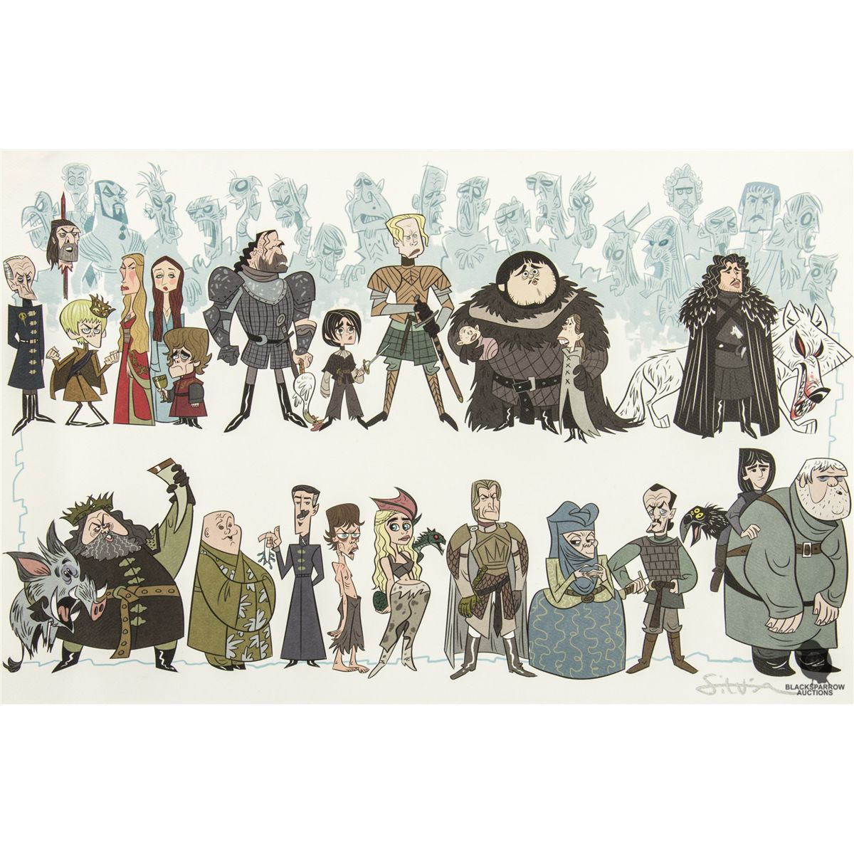 Stephen Silver Character Design App : Game of thrones character print by stephen silver