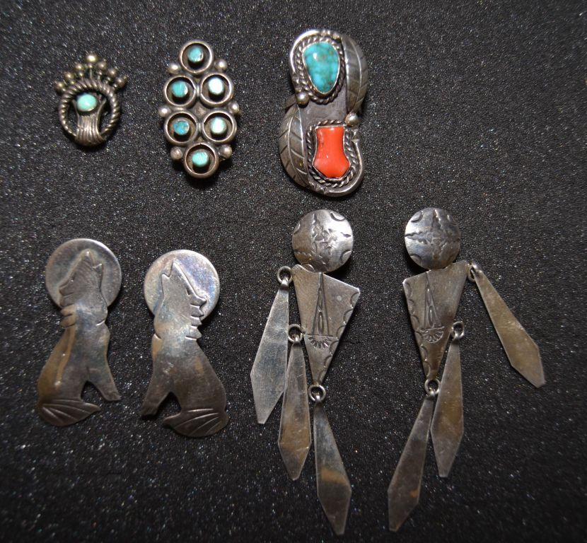 FIVE NAVAJO SILVER ITEMS