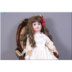 "28"" Morimura -10- Japan doll with excellent bisque, no cracks or hairlines, sleep eyes, open mouth o"