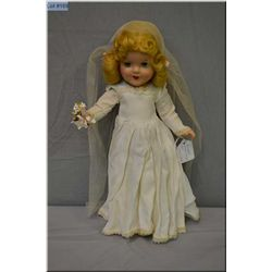 "15"" Reliable composition bride doll in excellent condition, no cracking or crazing seen, mohair wig"