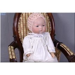 "15"" Armand Marseille 341 baby doll with excellent bisque head, no cracks, no hairlines on cloth body"