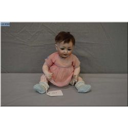 10' all original German bisque head 152/2 baby doll with mohair wig, blue glass sleep eyes on compos