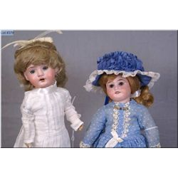 "Two antique bisque head dolls including 11 1/2"" Armand Marseille 1894 with bisque head, sleep eyes o"