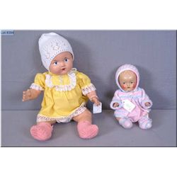 Two vintage composition dolls including Reliable baby doll with painted eyes, light crazing, one cra