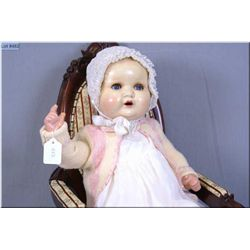 "22"" Armand Marseille composition baby doll with glass sleep eyes, open mouth on composition baby bod"