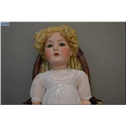 "28"" Cuno Otto and Dressel bisque head doll with sleep eyes, open mouth, excellent bisque, no cracks,"