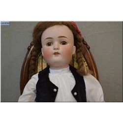 "25"" Kestner 168 bisque head doll on composition body with sleep eyes, open mouth, no cracks or hairl"
