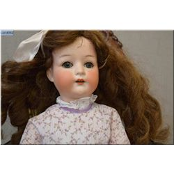 "23"" Heubach Kopplesdorf bisque head doll with high colour, sleep eyes, open mouth, good bisque, no c"