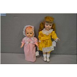 "14"" American Character hard plastic walking doll, Sweet Sue? with closed mouth, sleep eyes and saran"